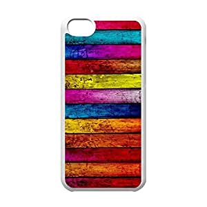 Cool iPhone 5C White Case,Coloured Timber.jpg Customized Hard Back Case for iPhone 5C iPhone 5Cs