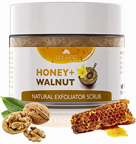 ce Scrub & Face Exfoliator Cleanser – Natural Exfoliating Face Wash with Manuka Honey & Walnut – Moisturizing Facial Scrub for Dull, Dry and Oily Skin, Acne Scars & Blemishes ()