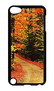 iPod 5 Case,VUTTOO Cover With Photo: Nature Autumn Leaves For iPod Touch 5 - PC Black Hard Case