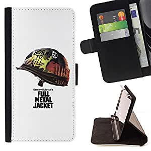DEVIL CASE - FOR Samsung Galaxy Note 4 IV - Metal Jacket Poster - Style PU Leather Case Wallet Flip Stand Flap Closure Cover