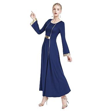 Vestido de Baile Litúrgico de Alabanza para Adultos,Mujer Casual ...