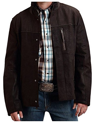 (Stetson Western Jacket Mens Suede Leather L Brown 11-097-0539-6604 BR)