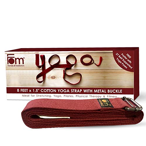 FOM (Friends of Meditation) Yoga Belt- Best for Daily Stretching, Yoga, Pilates, Physical Therapy, Fitness Price & Reviews