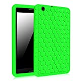 AT&T Trek 2 HD Case (Model 6461A) - Fintie [Honey Comb Series] Light Weight Shock Proof Silicone Protective Cover [Anti Slip] [Kids Friendly] for 8-inch AT&T Trek 2 HD (2016), Green