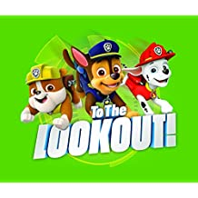 """Paw Patrol Suede Feel Super Soft Wall Art """"Lookout"""" Perfect For Toddlers Nursery Wall Decor , 12 x 16"""""""