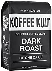 Image of the product Koffee Kult Dark Roast Coffee Beans - Highest Qual that is listed on the catalogue brand of Koffee Kult. This item has been rated with a 5.0 scores over 5