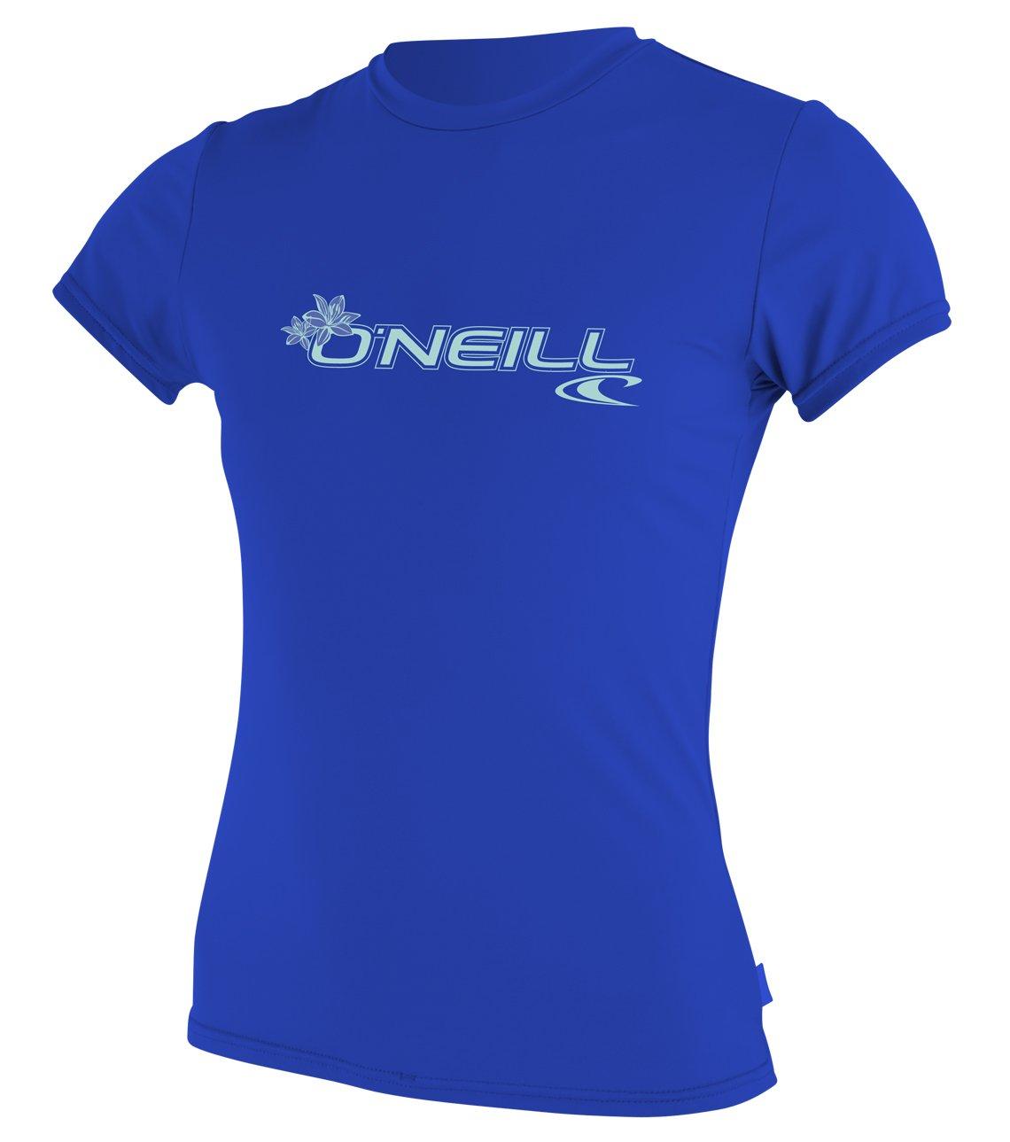 O'Neill  Women's Basic Skins Upf 50+ Short Sleeve Sun Shirt, Tahitian Blue, X-Small