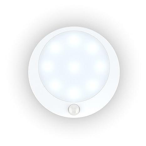 Kakaffashion Sensor de movimiento de luz, luz nocturna LED inalámbrica con pilas, se adhieren