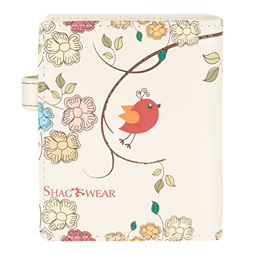 Shagwear Junge-Damen Geldbörse, mädchen geldbeutel Verschiedene Farben und Designs: (Schmetterling Oase Aquamarin/Butterfly Oasis) Schaukel Vögel Beige/ Swing Birds