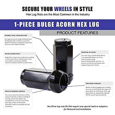 Wheel Accessories Parts Full Set Lug Nut Closed End Bulge Acorn 1.90