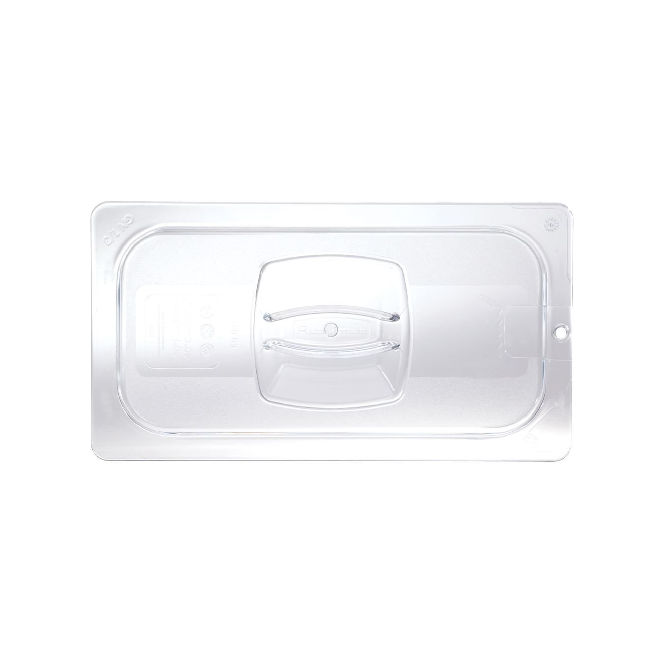 Rubbermaid Commercial Products FG121P23CLR Cold Food Pan Cover with Peg HoleCLR, 1/3'' Size (Pack of 6)