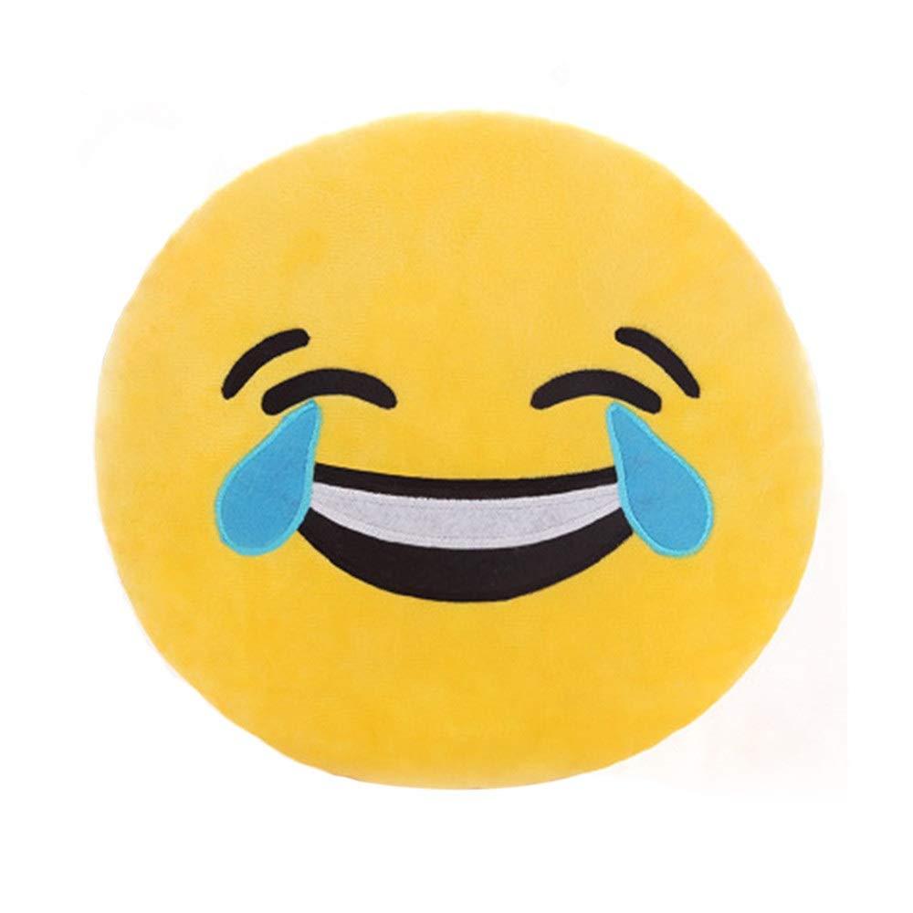 Lanhui 32cm Soft Smiley Emoticon Pillow Case Stuffed Plush Toy Doll Cover (Medium, J)
