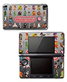 Classic Nintendo Video Game Character Sprites Retro Pixel Art Galaga Donkey Kong Double Dragon Ghosts and Ghouls Kirby Mario Metroid Samus Vinyl Decal Skin Sticker Cover Original 3DS System