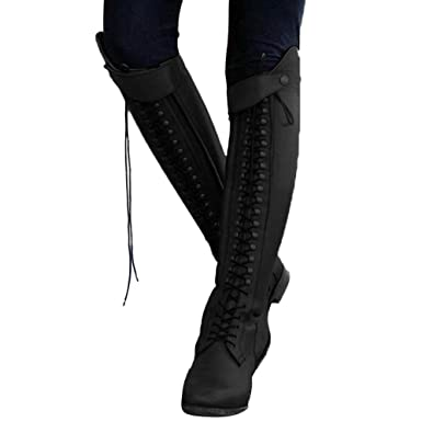cadbc1e416 Women Boots Long Vovotrade Ladies Sexy Bandage Knee High Motorcycle ...
