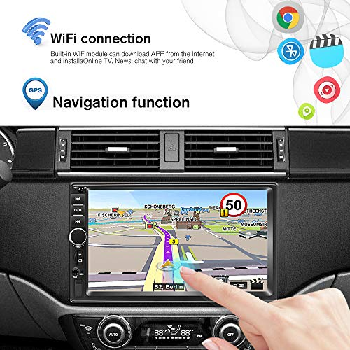 2 Din Android Radio De Coche Gps 2g32g Camecho Pantalla Tactil Capacitiva De 7 Pulgadas Bluetooth Wifi Usb Sd Aux Fm Enlace Estereo Del Espejo Del Automovil