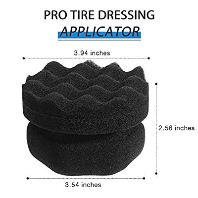 2 Pieces Tire Dressing Applicator Tire Shine Applicator Dressing Pad Tire Cleaner Sponge Large Hex Grip Design for Applying Tire Shine, Dressing Vinyl Rubber and Trim Accessories (Black): Automotive
