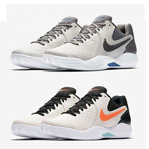 Nike Herren Leder Court Air Zoom Resistance Sport Fitness Tennis Schuhe 922064, Größe:45.5 EU, Farbe:064 PHANTOM/HYPER CRIMSON-BLEACHED