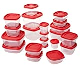 Product Description :  The Ruermaid 1880801 42-piece easy find lid food storage set contains 5 - 0.5 cup, 5 - 1.25 cup, 5 - 2.0 cup, 2 - 3.0 cup, 2 - 5.0 cup and 2 - 7.0 cup containers with lids. The containers feature thick, durable containe...