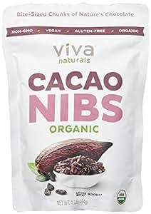 Viva Naturals - Organic Raw Cacao Nibs, 1 lb Bag