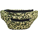 Camo Print Fanny Pack, Hidden Pocket, Party Army Boho Chic & Handmade (Digital)