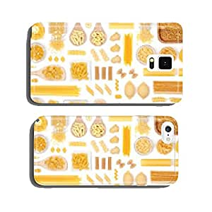 various pasta on white background top view cell phone cover case Samsung S6