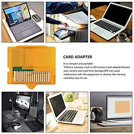Amarillo 25 x 22 x 2 mm (L x W x H) 2 piezas Micro SD ...