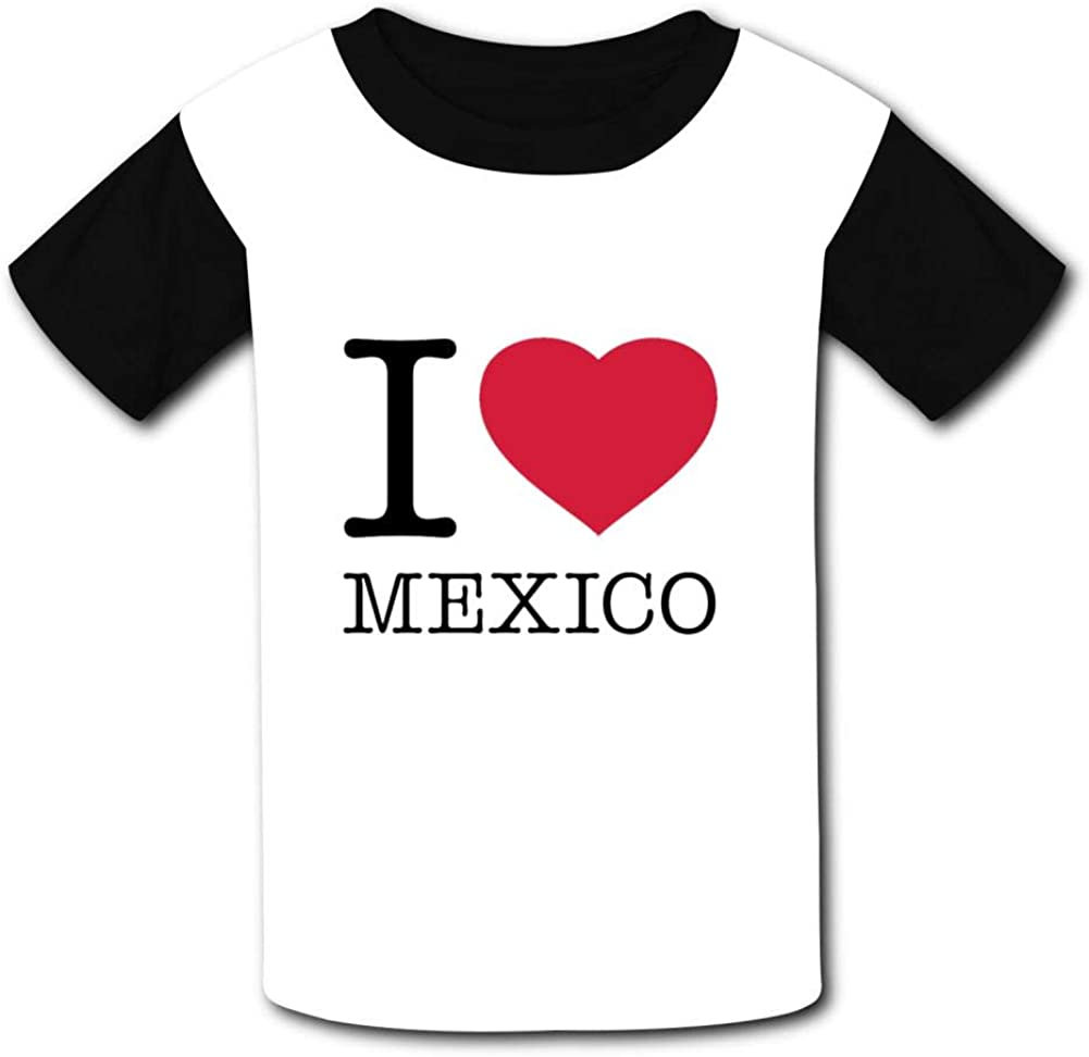 T-Shirt I Love Mexico 3D Print Short Sleeve Top Tees for Boys Girls Funny Novelty
