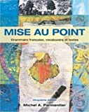 Mise Au Point Cahier : 5/e Cahier, Parmentier and Parmentier, Michel, 017610495X