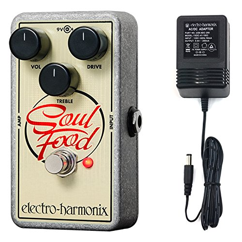 Electro-Harmonix Soul Food Distortion/Fuzz/Overdrive Pedal with Power Supply
