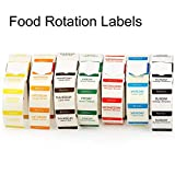 Methdic Dissolvable Food Rotation Labels Day of The Week Stickers 500 PCS per Roll for Refrigerator Freezer Food Storage