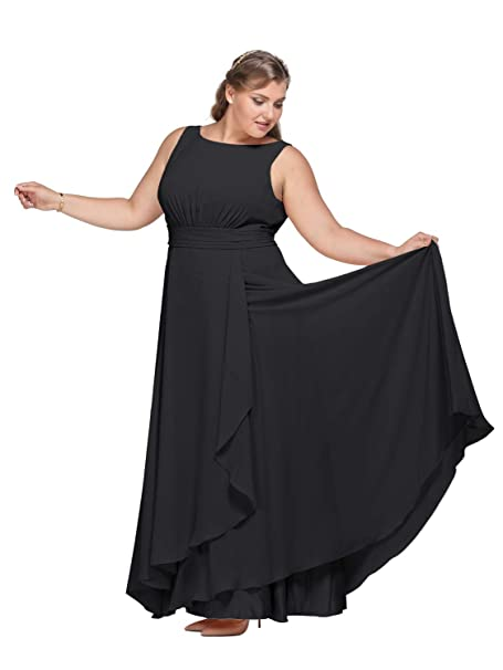 Alicepub Chiffon Bridesmaid Dress Plus Size Long Party ...
