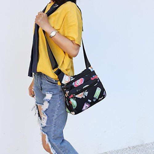 Crossbody Multi STUOYE Perfume Pocket Bag Nylon Bags Travel Women Purse Shoulder for 5qtt7Fw