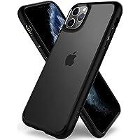 【Spigen】 iPhone 11 Pro Max ケース 6.5インチ 対応 背面 クリア 米軍MIL規格取得 耐衝撃 カメラ保護 衝撃吸収 Qi充電 ワイヤレス充電 ウルトラ・ハイブリッド 075CS27136 (マット・ブラック)