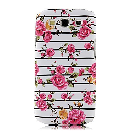 Caitin Classic Stripes with Flowers Cell Phone Cases Cover for iPhone 5c (Laster Technology)