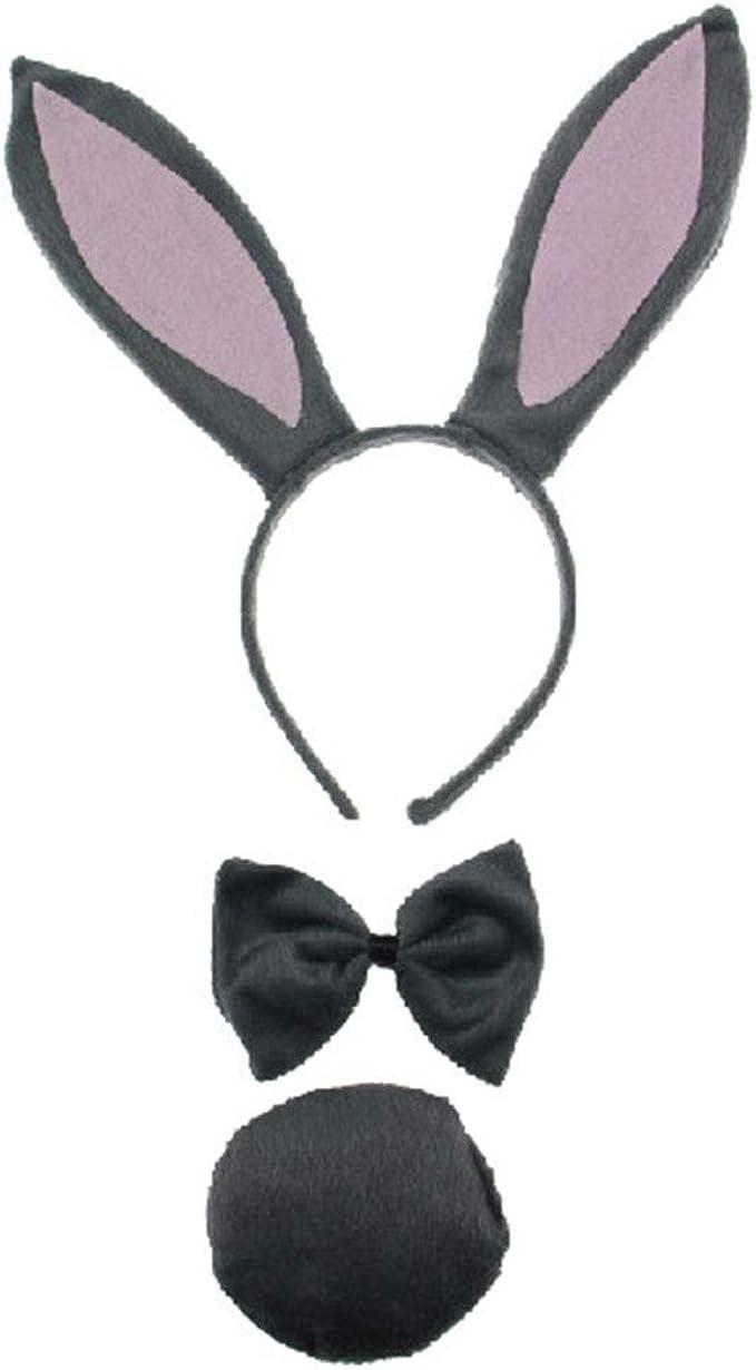 Jumbo Bunny Rabbit Animal Ears and Tail Set