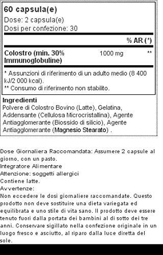 Prozis Colostrum 1000mg 60 Caps - Complemento para Estimular tanto el Crecimiento y la Recuperación Muscular así como del Sistema Inmunitario - 30 Dosis: ...