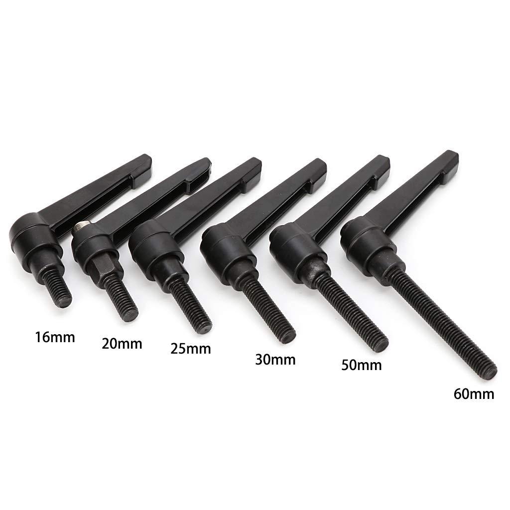 M8*16 VIccoo M8 16-60mm Adjustable Handle Locking External Male Thread Knob Hex Screws