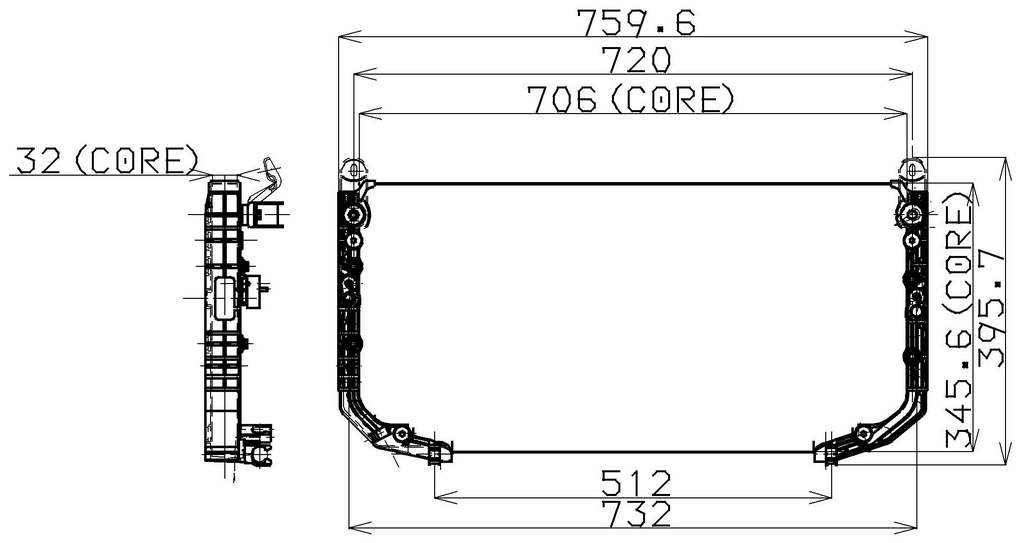Denso 477-0121 Condenser