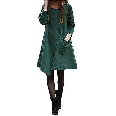 Fiesta Vestir Ropa Falda Mujer Otoño,BBestseller Mujer Vestido de Manga Larga Irregular de algodón Grande Verano de Boho Maxi de Las Mujeres Vestido de ...