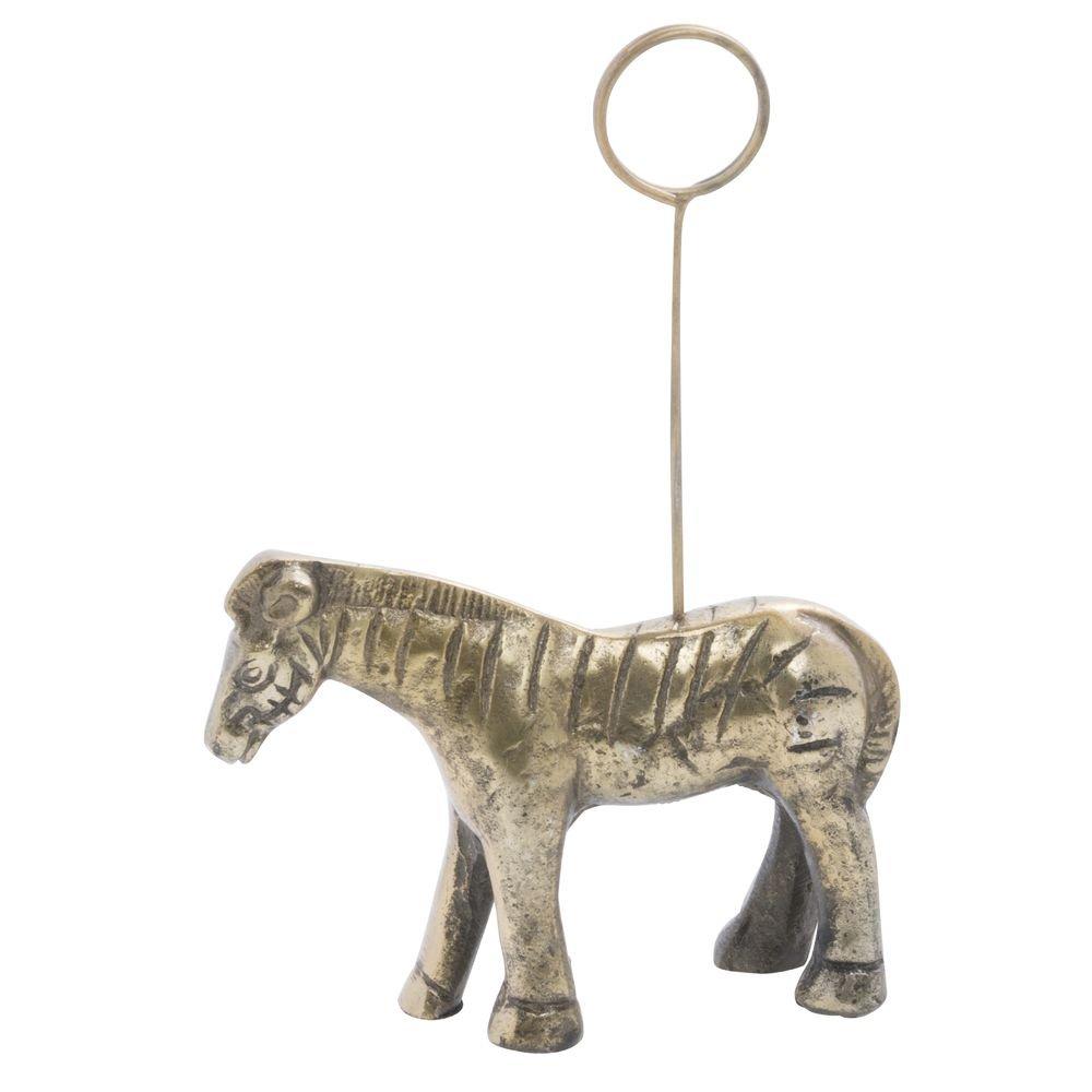 Gold Metal Zebra Sign Holder - 4 9/10''L x 1 1/4''W x 5 3/4''H