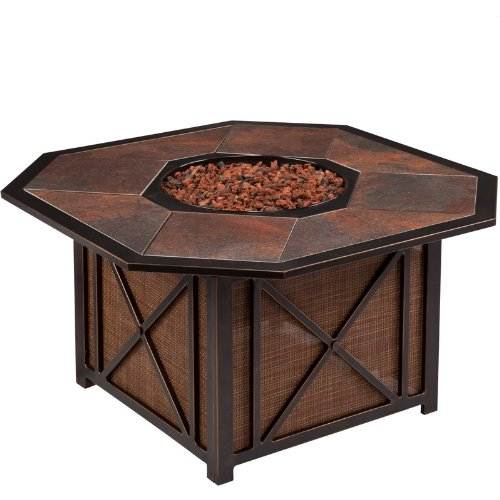 Xander Outdoor Gas Fire Pit with Tile Top