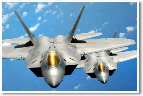 Pair of F-22 Airforce Raptors - NEW Military Us Air Force Poster