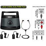 Simolio Digital Assisted Hearing Amplifier Wireless TV Speaker with Optical in, TV Audio Assistance, Portable Speaker for Smart TV, Voice Clarify Speaker for Seniors, Extra Headset & Adapter SM-621D