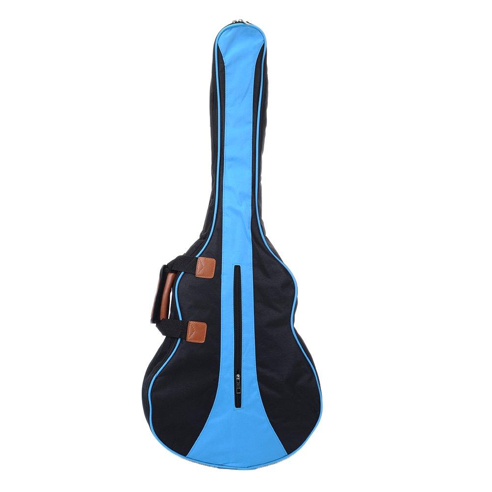 jacktomデラックスギターバッグ防水デュアル調節可能なショルダーストラップGigバッグバックパックカバーケースforアコースティックギター34 / 36インチ B071469Z72 36 Blue 36 Blue