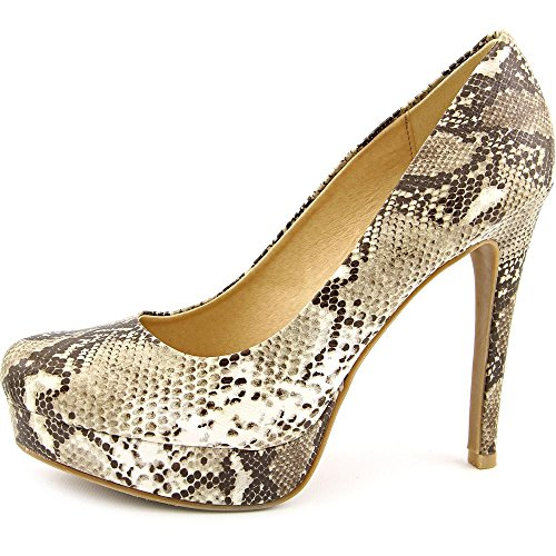 Chinese Laundry Womens Wonder Closed Toe Platform Pumps Beige Python kyG2UK