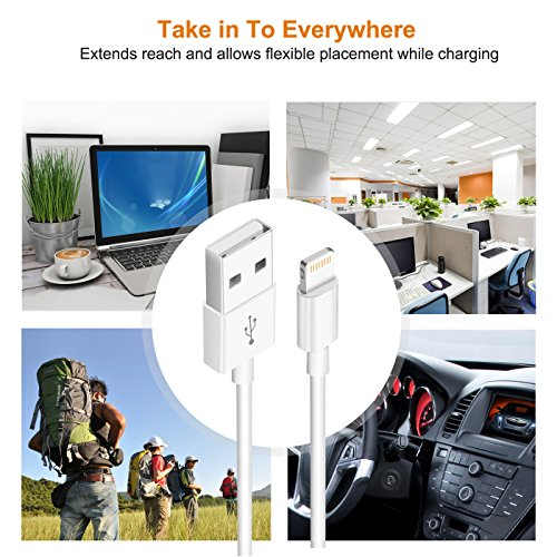 iPhone Charger,Lightning Cable Charger Kit (Dual USB Car Charger+Wall Charger+2 X Lightning Cables) for iPhone 8,iPad Charger Kit for iPhone X/8/7/6s/5s/Plus, iPad Pro/Air 2/Mini and More by YouCoulee (Image #5)