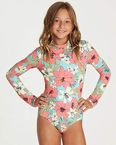 Billabong Girls' Aloha Sun Bodysuit Rashguard Mo-Mint Small by Billabong
