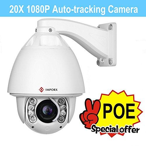 IMPORX CCTV 20X Auto Tracking PTZ IP Camera, POE+, 20X Op...