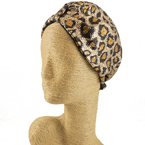Fascinator, Silk and Leather Headbands, Millinery, Worldwide Free Shipment, Delivery in 2 Days, Animal Print Fabric, Leopard, Head wrap, Bohemian Accessories, Shiny Fabric, Boho Chic, Gift Box by Elipeacock