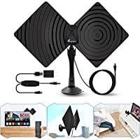 TV Antenna,Vansky 2018 Newest Adsorbable HDTV Antennae 50-70 Miles Range with Detachable Amplifier Signal Booster,Designed for The Best Reception On UHF And VHF Bands